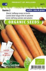 Carrot Nantes 2 (organically seed tape)